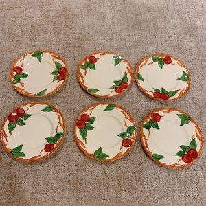 Franciscan Apple Set of 6 Dessert Plates